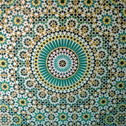 Custom Kitchen Design On Moroccan Tiles Floor Tile Moorish