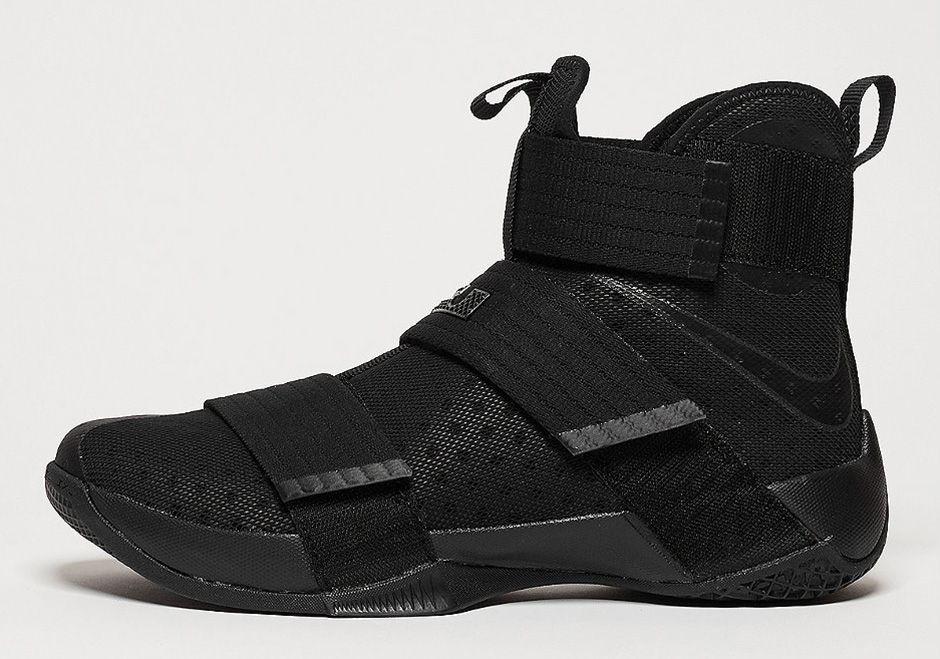 sports shoes a2c2a 5e0b3 Nike LeBron Soldier 10 Triple Black 844374-001 | Basketball ...