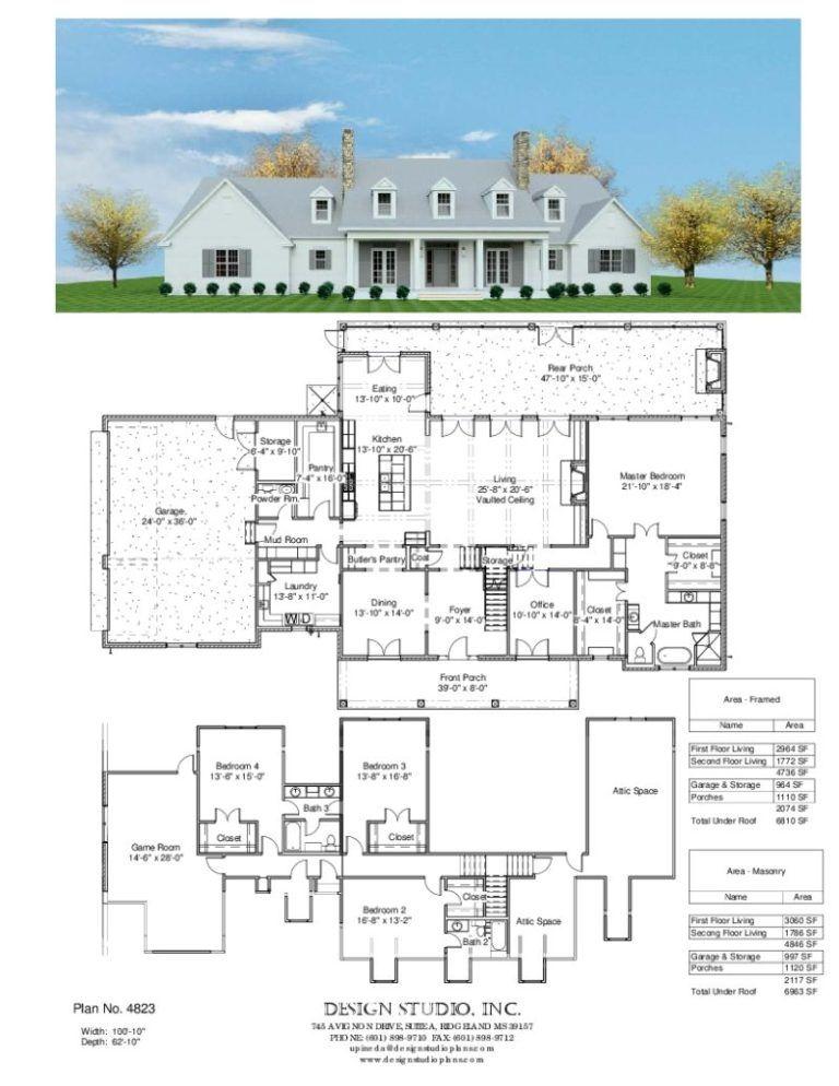 Plan 4823 Design Studio Minecraft House Plans Farmhouse Floor Plans House Layouts