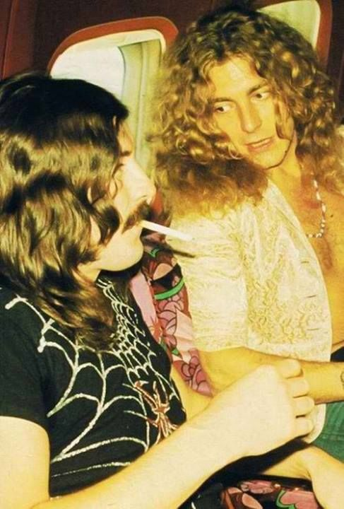 John Bonham and Robert Plant
