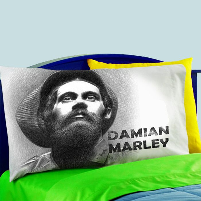 Mz2-damian Marley Jr Gong Jamaican Reggae  Pillow Case For Bed Bedding