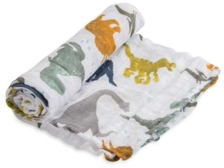 Little Unicorn Swaddle Cotton Muslin Baby Blanket Food Truck NWT