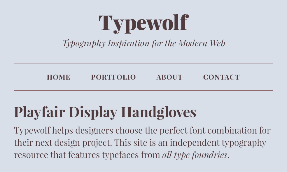 Playfair Display Font Sample Google Fonts Best Google Fonts Poppins Font