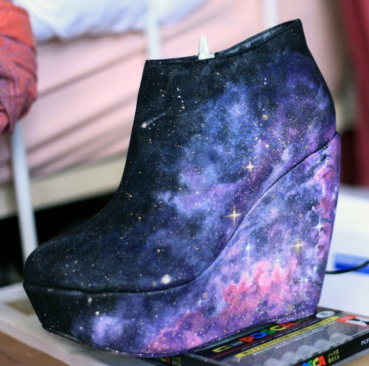 DIY Cosmic Booties  #MACxNastyGal