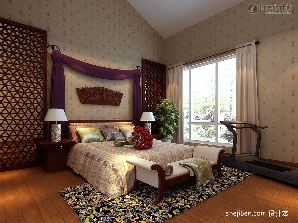 ... bedroom decoration pictures, master bedroom wallpaper decoration, 1024x768 in 358.3KB