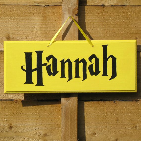 Personalised Name Sign Harry Potter Style Yellow Amp Black Door Sign Hufflepuff Colours Hand