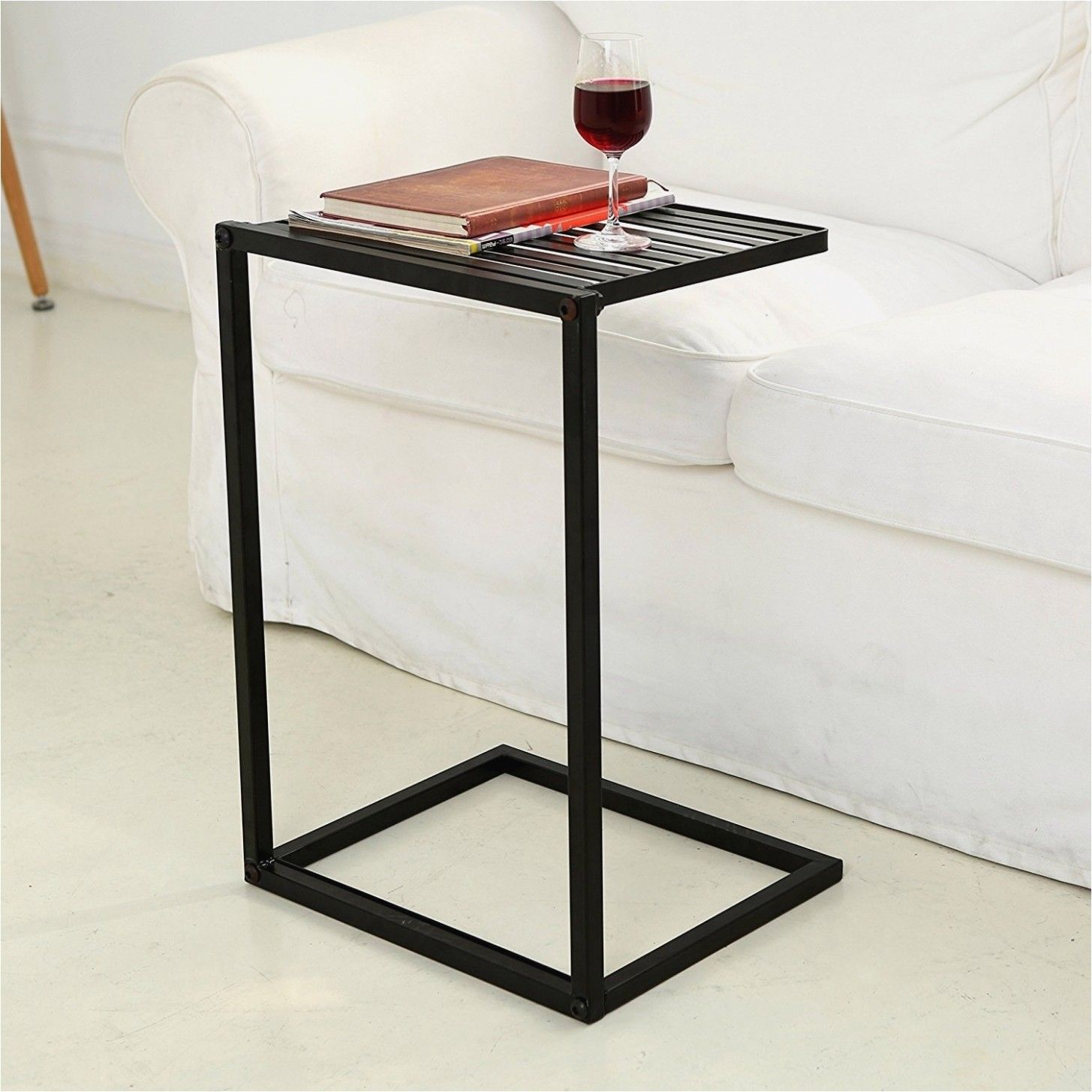 The Powerful Photos Sofa Side Table Slide Under For 8 At New Home In 2020 Sofa Snack Table Couch Table Sofa Side Table