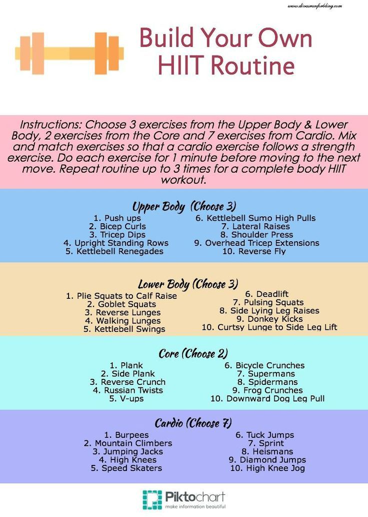 build your own hiit routine