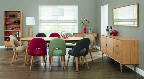 Oslo Oak Extension Dining Table Extensive Choice Of 6 Or 8 Chairs