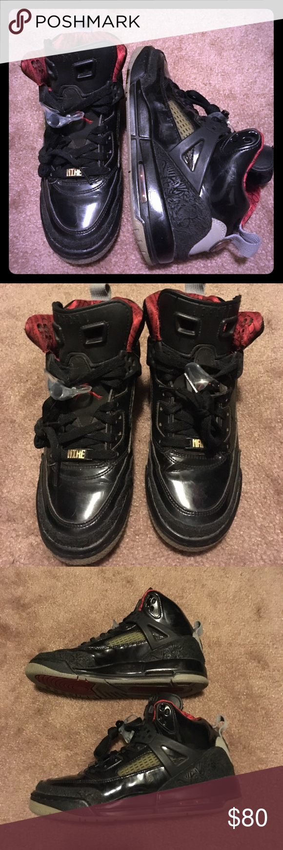 best sneakers f710d c29c7 Nike Air Jordan Spiz ike Black  Red-stealth 2010   Nike air jordans ...