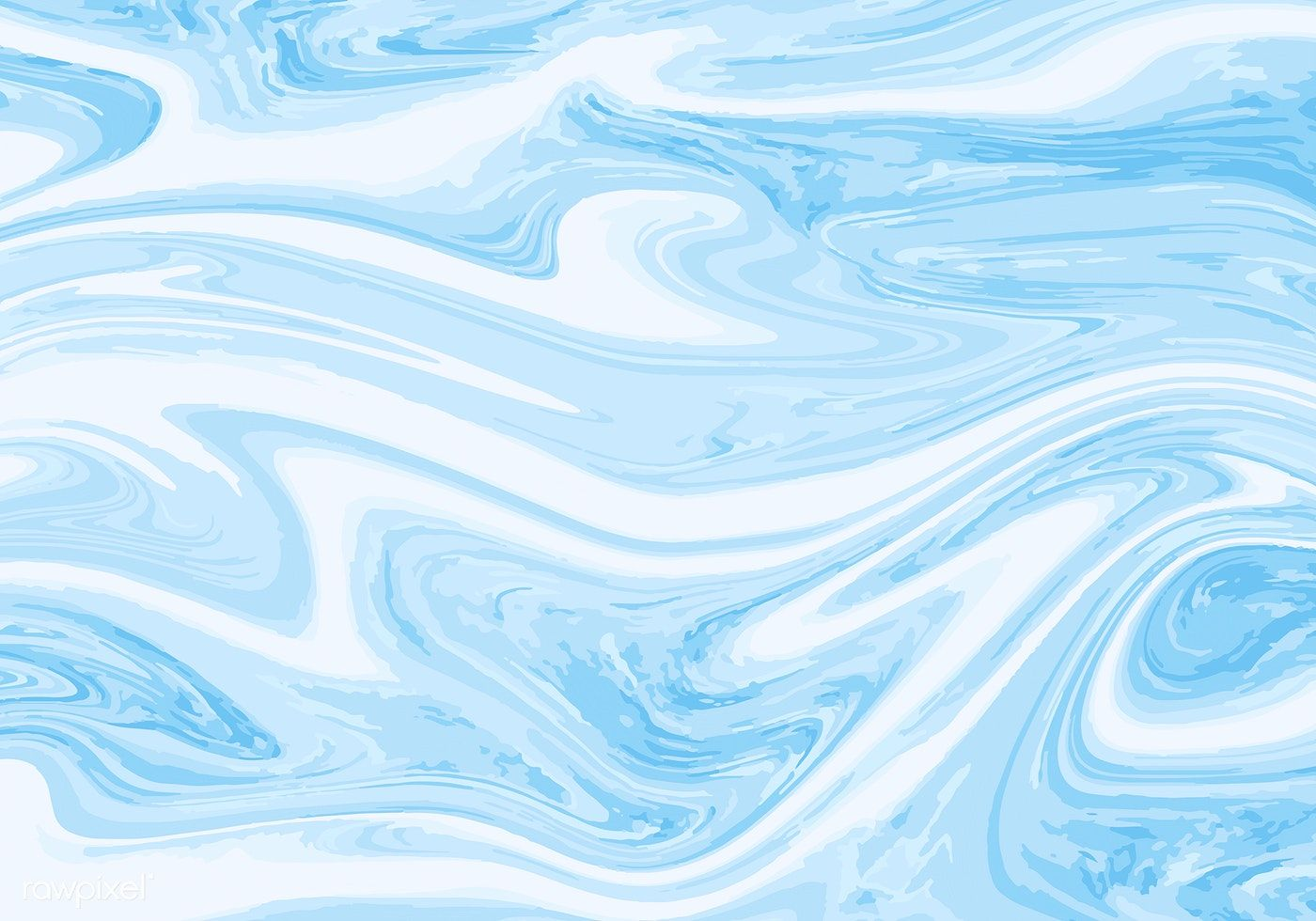 Marble Abstract Blue And White Paint Texture Background Vector