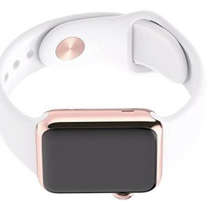 24K ROSE Gold 38MM Apple Watch SERIES 2 with White Band