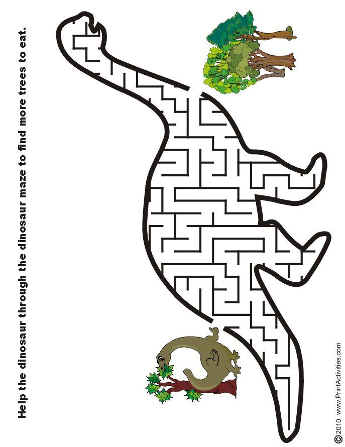 Free printable mazes for kids! Alphabet, dinosaur, numbers ...