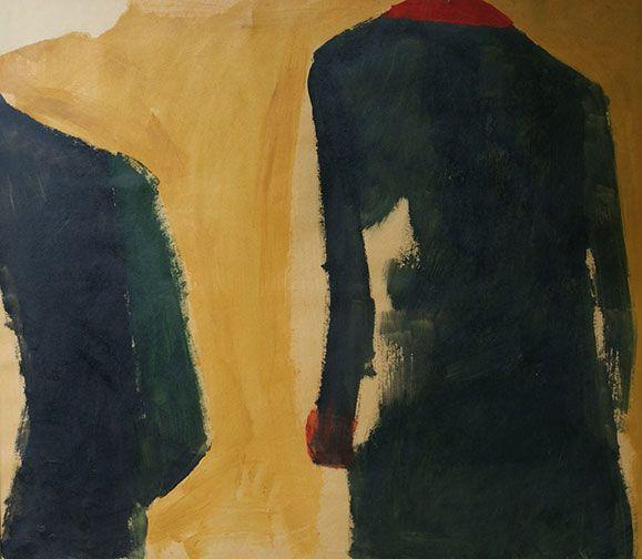 Untitiled [figures], no date, Richard Ciccimarra, watercolour, 18 3/4 x 23 1/2 in., Victoria, British Columbia, Canada.