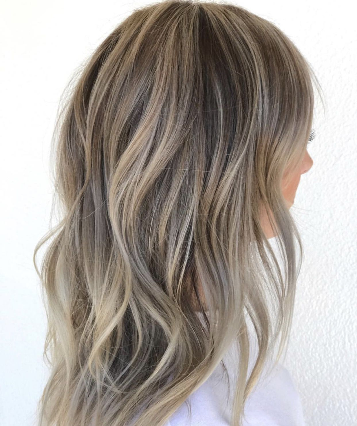 Vanilla Ice Blonde Hair All Over Blonde Balyage With Ashy Toner