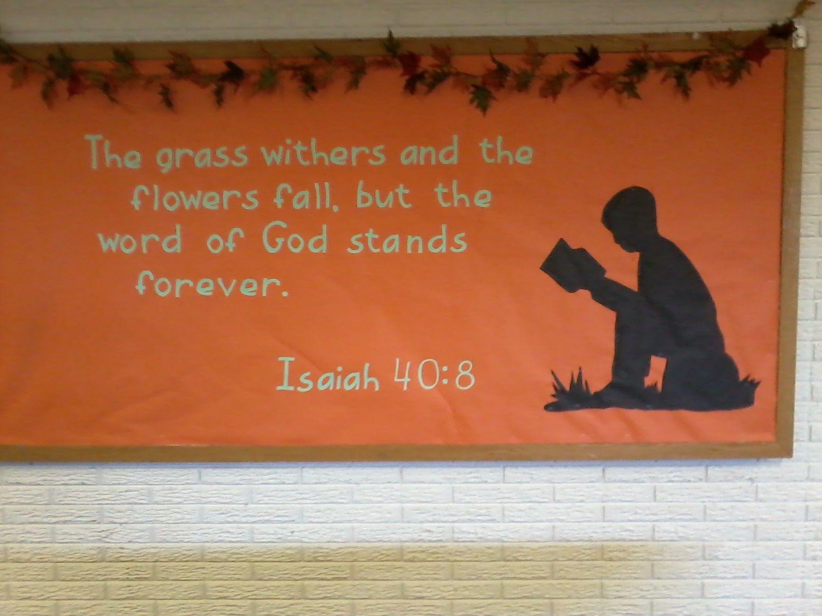 Fall Board Christian Bulletin Boards Church