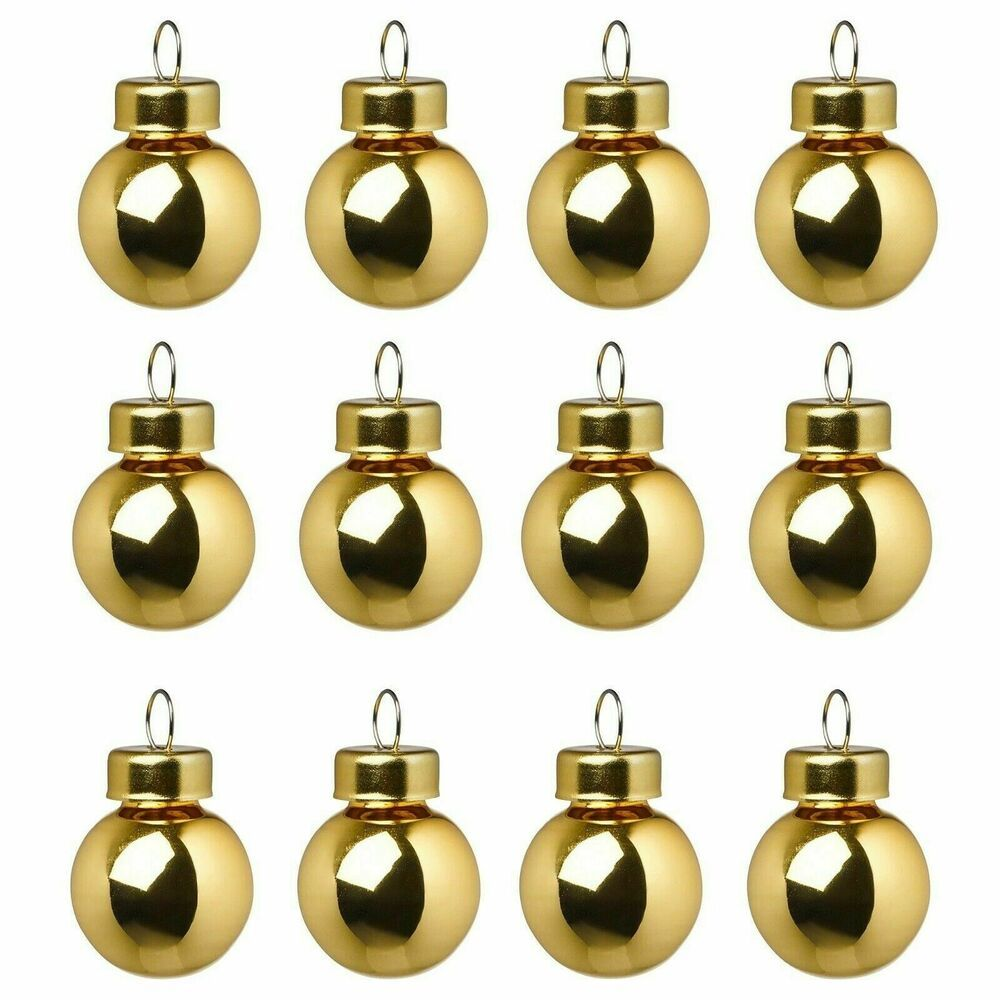 (9) 12 Pack IKEA Mini Gold Shiny Christmas Tree Ornaments ...