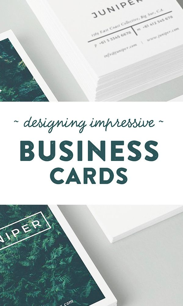 How to Design Impressive Business Cards Using Templates | Business ...