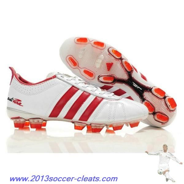 2013 Adidas Adipure IV Trx FG Cleat White Red Football Boots