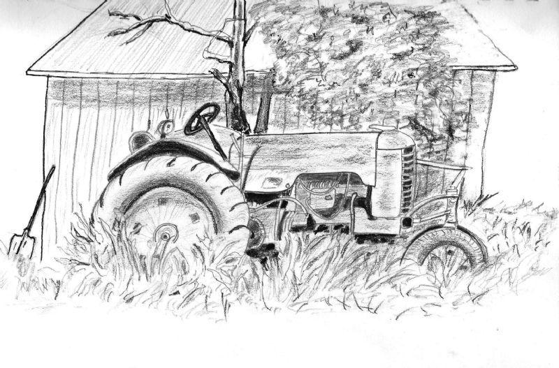 vintage tractor drawings home gallery pencil drawings