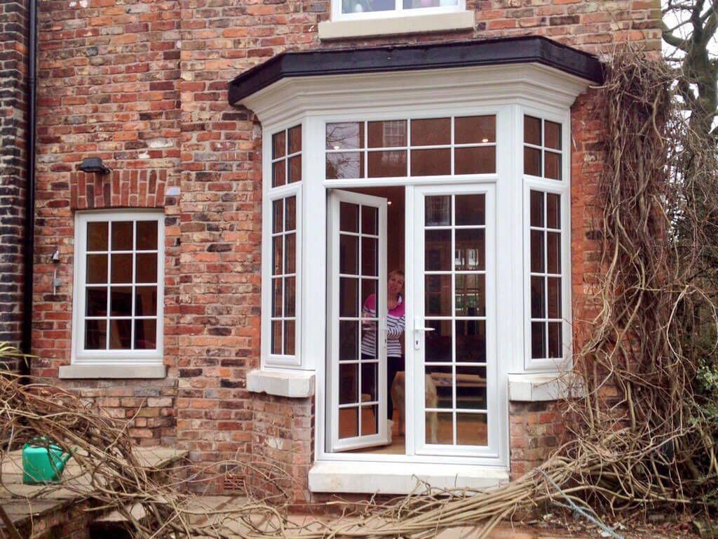 Period Property Convert Bay Window Into French Doors Convert Door To Window Sale Altrincham Ma French Doors Exterior Victorian Patio Doors Upvc Patio Doors