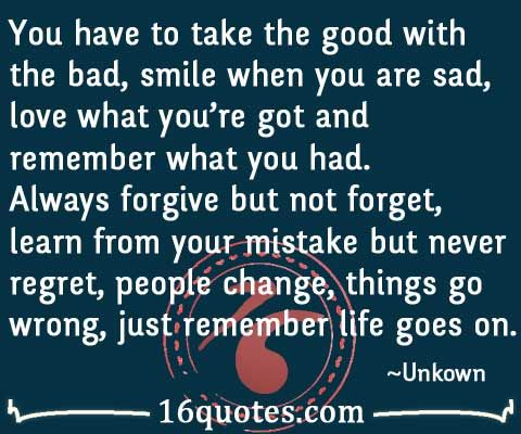 Life Goes On Quotes   Pics And Quotes