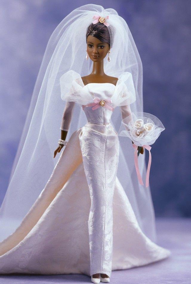 Black Barbie Bride Doll #bridedolls