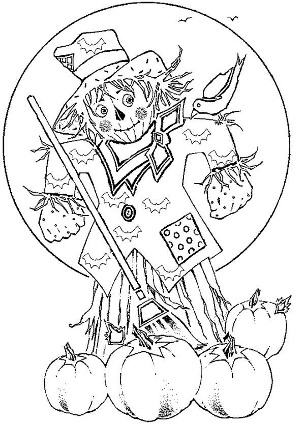 """iColor """"Scarecrows"""" Fall coloring pages, Cute coloring"""