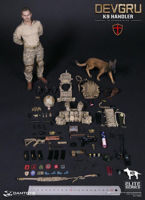 DAM Toys Elite Series US NAVY DEVGRU K9-handler in Afghanistan 1//6 Figure