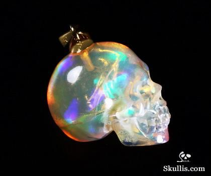 Australian opal crystal skull pendant sparkly and small box things australian opal crystal skull pendant mozeypictures Images