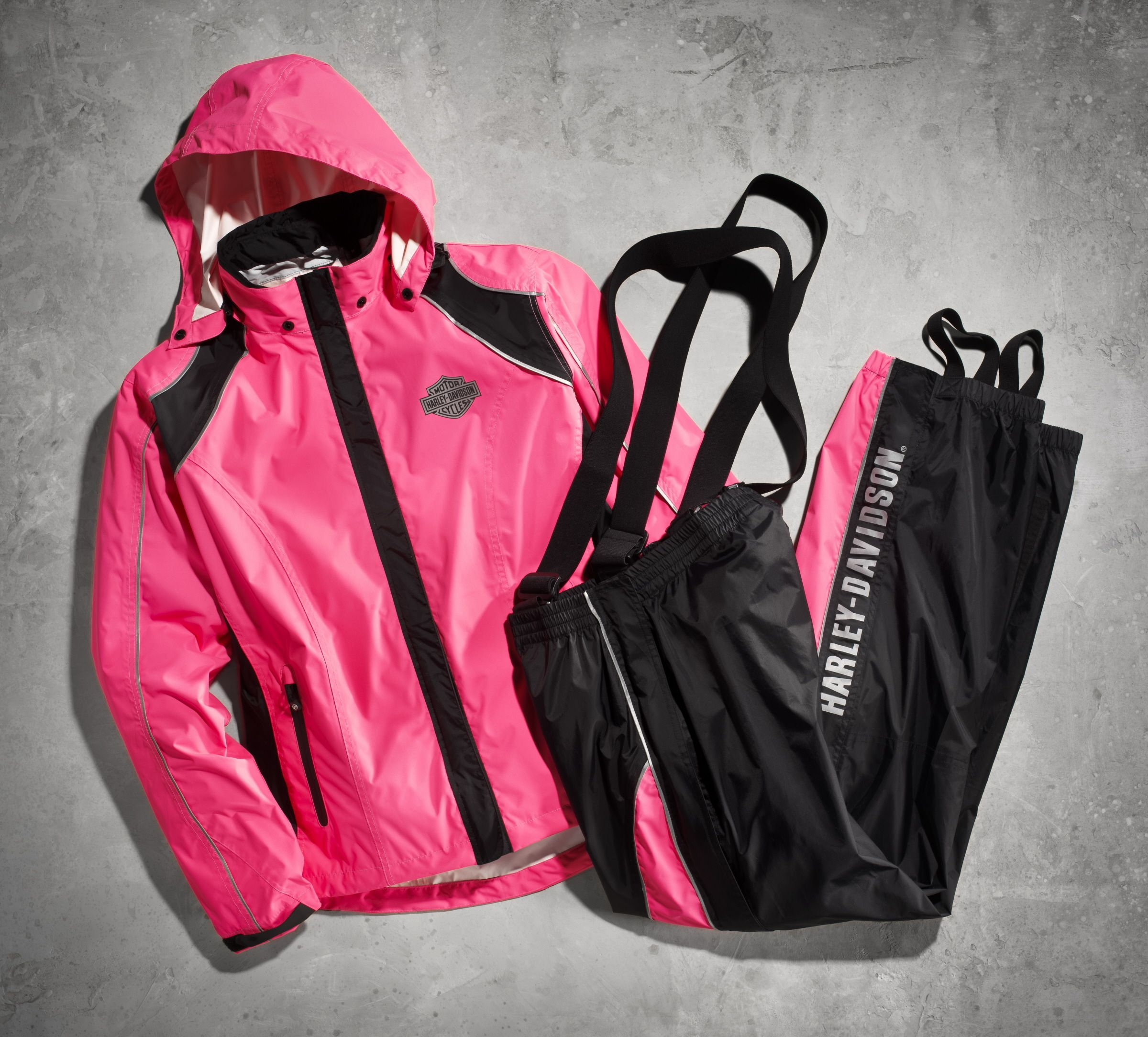 Many Times You Ride To Escape But In The Rain You Ride To Be Seen Harley Davidson Women S Pink Hi Vis Harley Davidson Clothing Harley Davidson Harley Gear