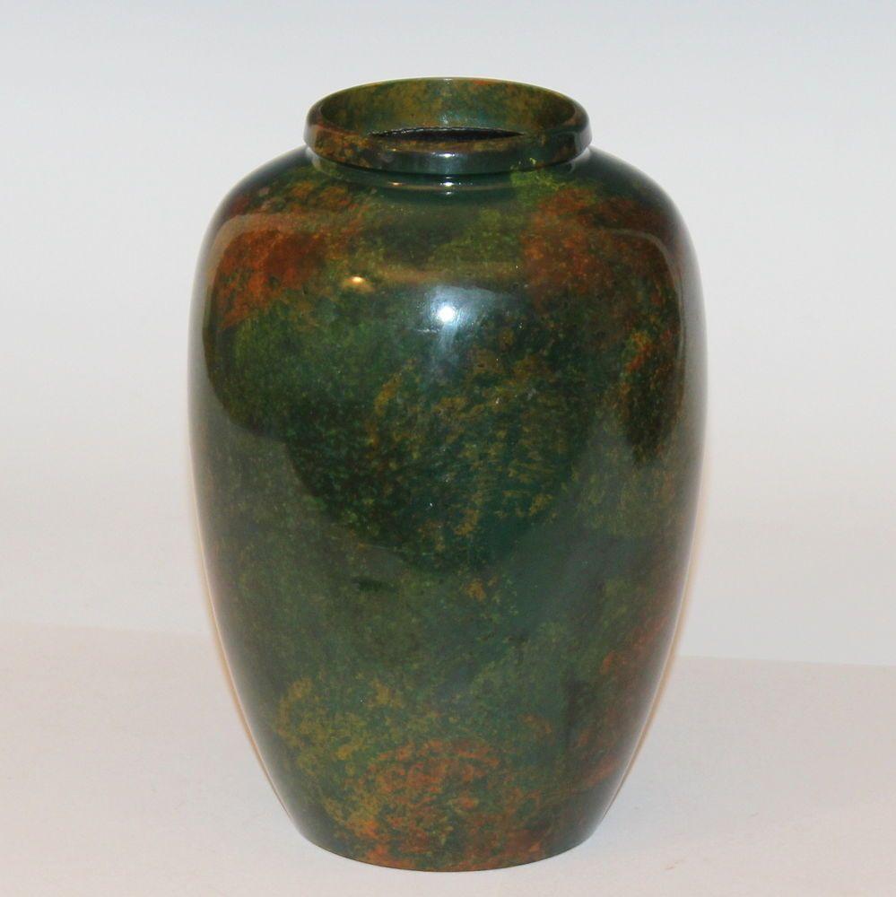 Vintage japanese bronze style metal green lacquered mottled vintage japanese bronze style metal green lacquered mottled patinated jar vase japanese reviewsmspy