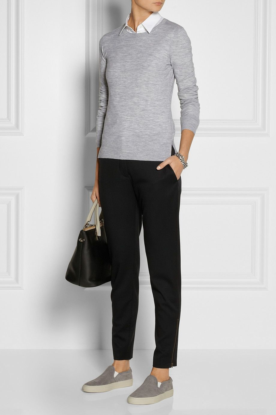 Theory Stretch wool-blend sweater NET-A-PORTER.COM