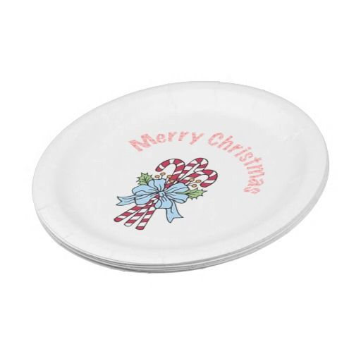 Christmas Candy Canes Paper Plates by Janz 7 inch  sc 1 st  Pinterest & Christmas Candy Canes Paper Plates by Janz 7 inch | Christmas candy ...