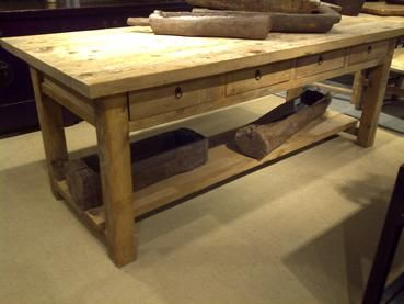 Kitchen Work Tables Making A Island From Cabinets Table Design Pinterest Love It For Workstation Hand Make With Old Wood