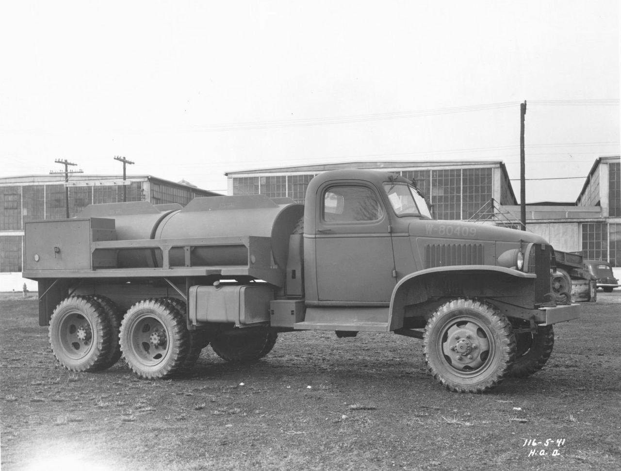 Tanker Gmc 750 Gallons 2 1 2 Tons 6x6 6x6 Truck Fuel Truck