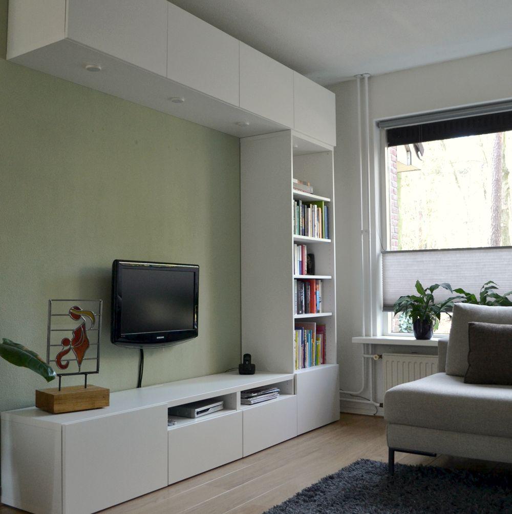 Ontwerp Binnenkijken Interieuradvies. Woonkamer. Kastenwand - IKEA ...