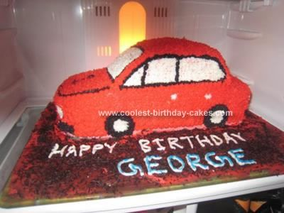 Cool Homemade Car Birthday Cake Square Cakes Chocolate Icing - Easy car birthday cake