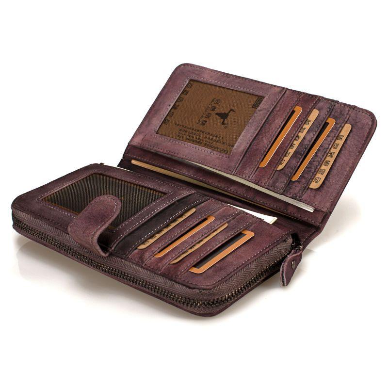 Buy mens wallet leather genuine 100