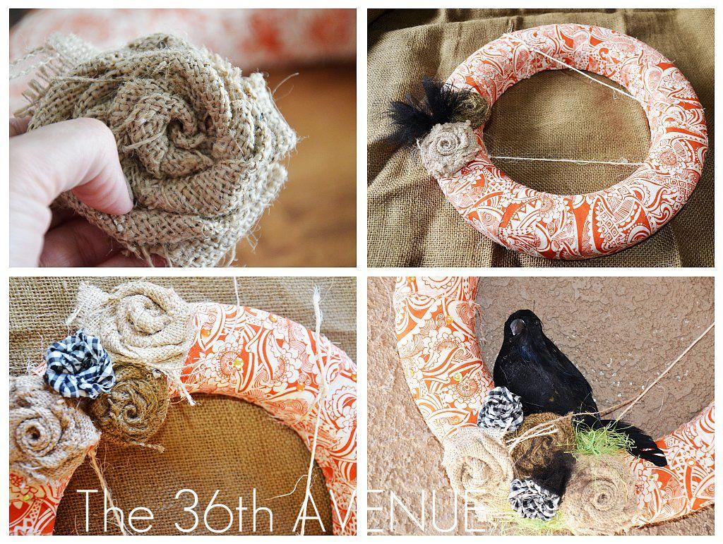 Photo of Fabric Wreath TUTORIAL – The 36th AVENUE