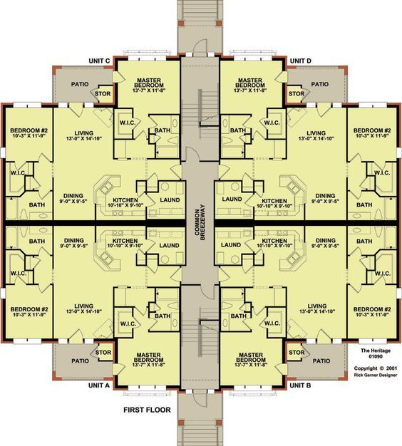 12 plex 1 floor plan