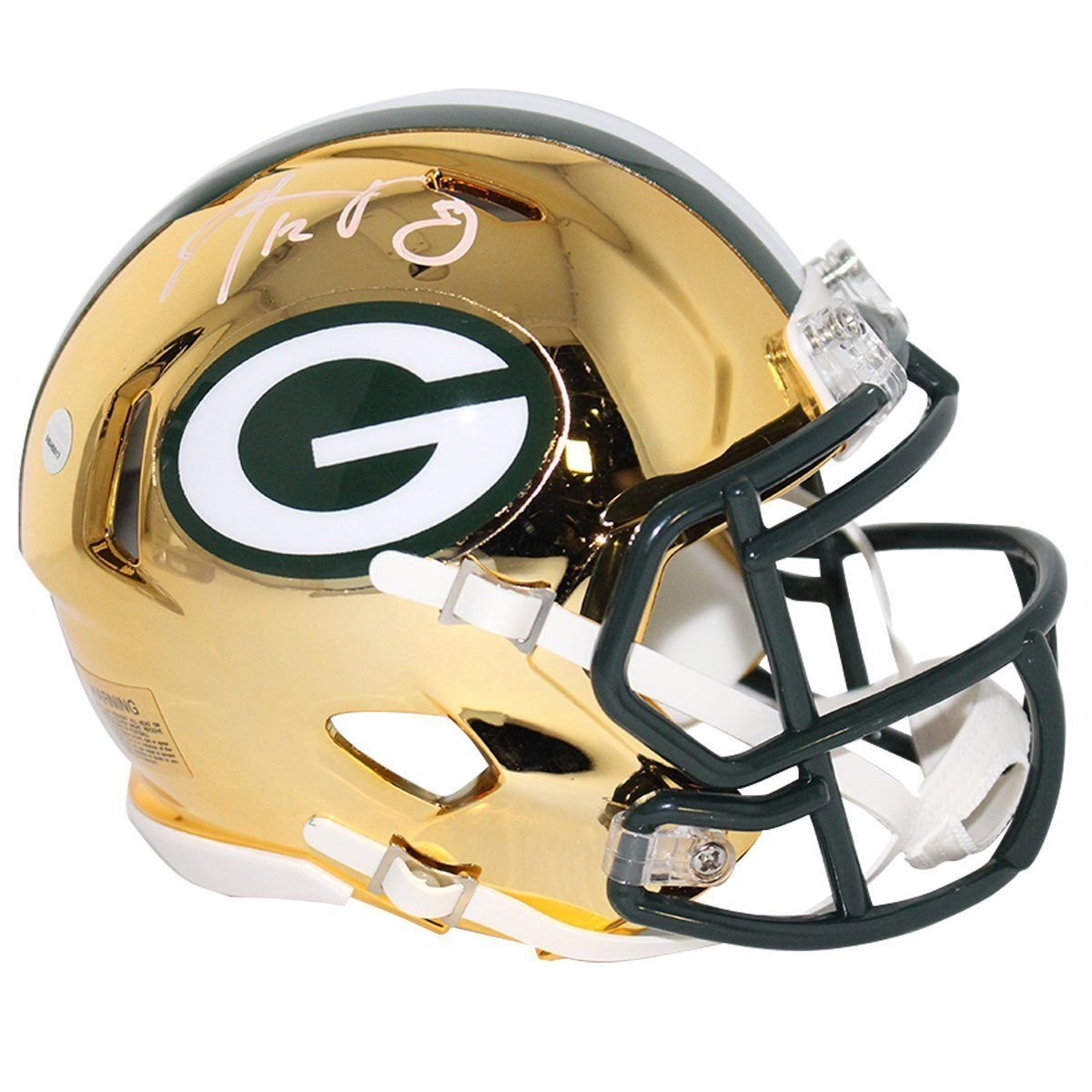 Aaron Rodgers Green Bay Packers Autographed Nfl Football Chrome Mini Helmet Aaron Rodgers Green Bay Packers Nfl Football Helmets