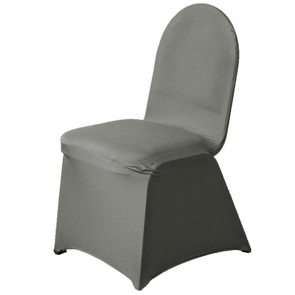Fabulous 160 Gsm Charcoal Grey Stretch Spandex Banquet Chair Cover Spiritservingveterans Wood Chair Design Ideas Spiritservingveteransorg