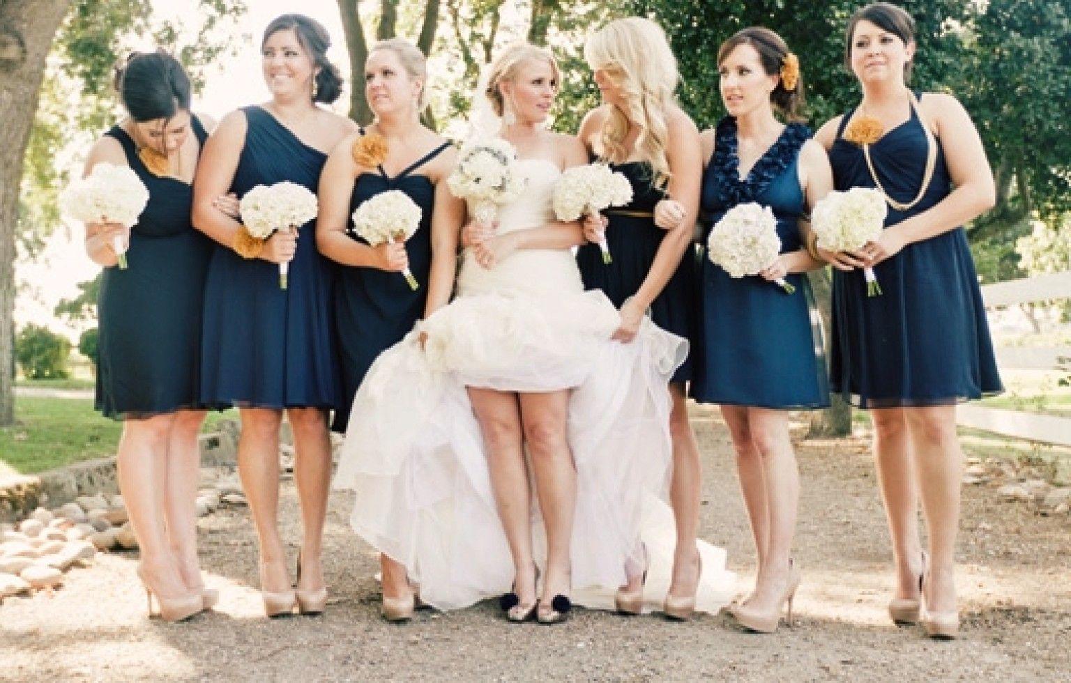 Photos the most versatile bridesmaid dress navy bridesmaids photos the most versatile bridesmaid dress ombrellifo Choice Image