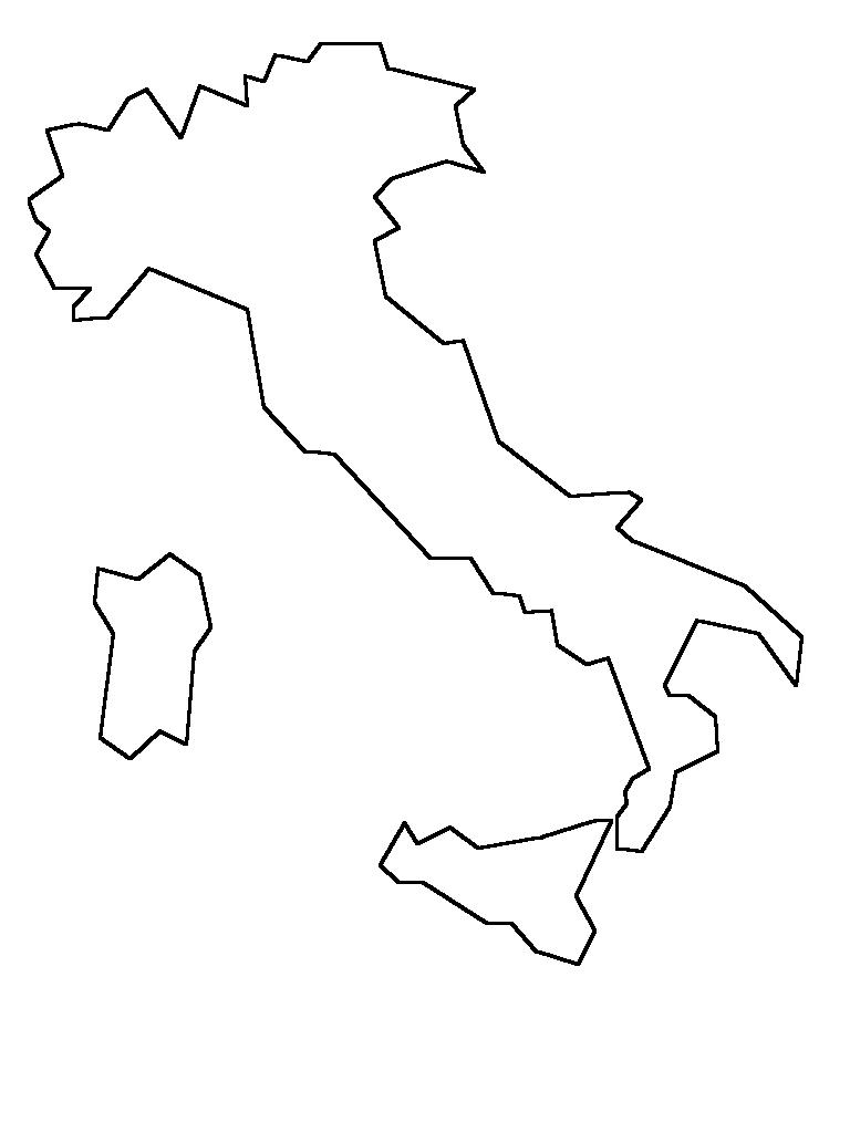 Cartina Tematica Italia Da Stampare.Cartine Geografiche Da Colorare Geografia Bambini Geografia E