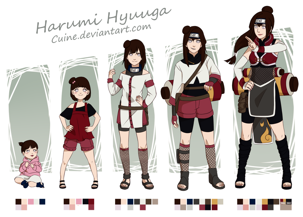 Harumi Hyuuga Timeline by Cuine Naruto clothing, Naruto