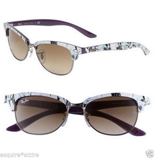 7ee9efda5e4 Ray-Ban women sunglasses RB 4132 835 51 2N Cathy Clubmaster Made in ITALY   RayBan  wayfarer