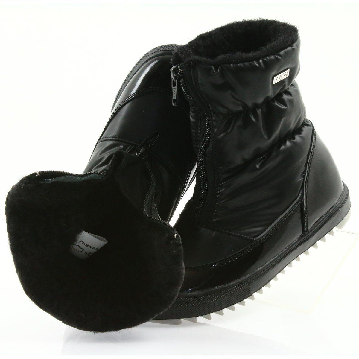 Kozaczki Z Membrana Bartek 47405 Czarne Boots Winter Boot Shoes