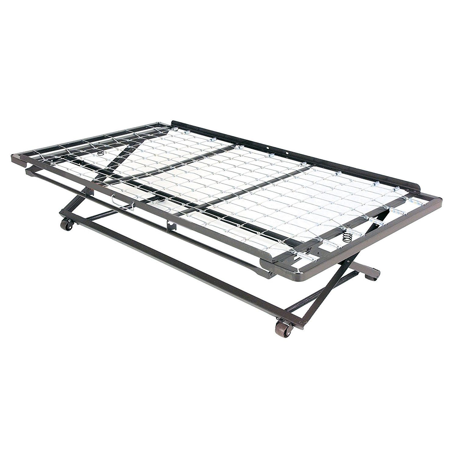 Full Size Trundle Bed Miami Complete Metal Daybed With Link Spring And Pop Up Frame Coffee Finish Twin For More Information
