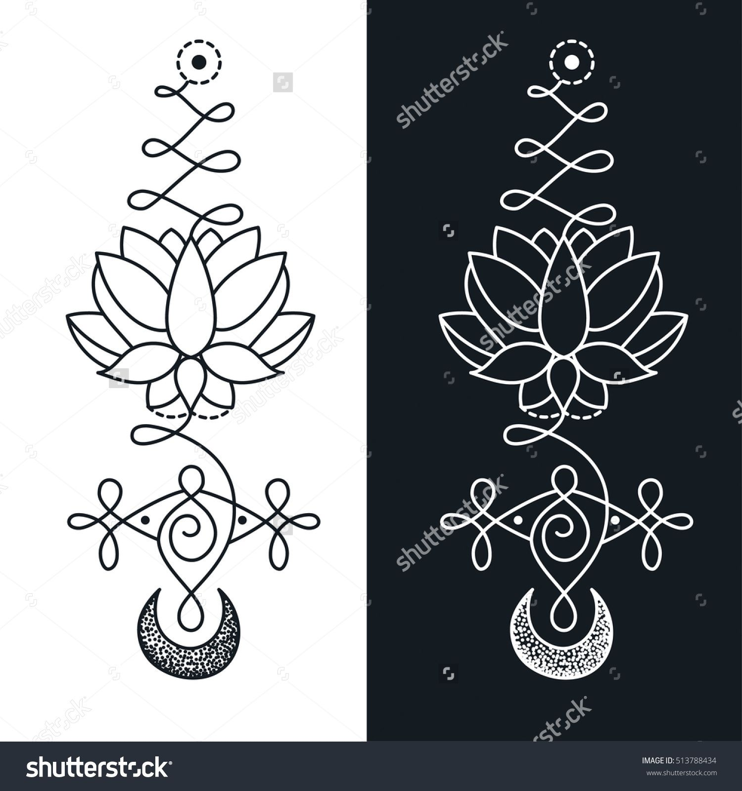 Image result for unalome tattoo pinterest unalome search unalome lotus sacred symbol buy this stock vector on shutterstock find other images buycottarizona Choice Image